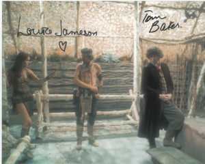 Tom Baker, Louise Jameson  -  Multi signed original autograph not a copy 10272